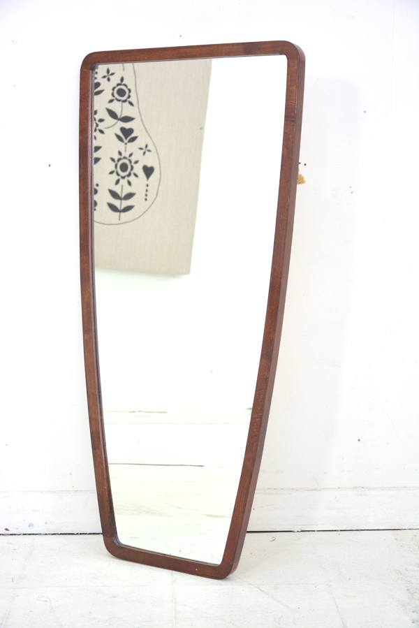 Danish Antique Wall Hung Mirror