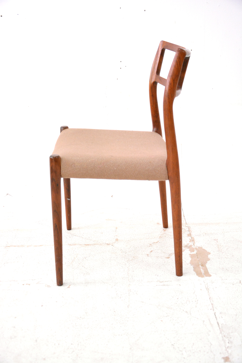 Niels moller dining chairs model in rosewood danish