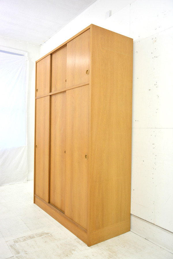 Vintage Danish Sliding Door Wardrobe