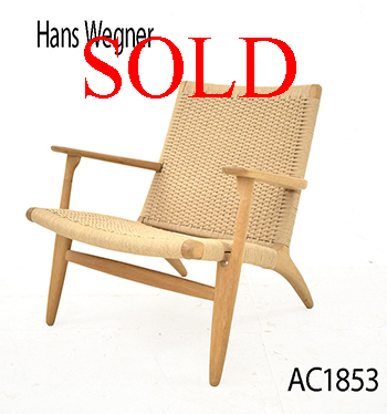 Vintage CH25 armchair by Hans Wegner | New cord