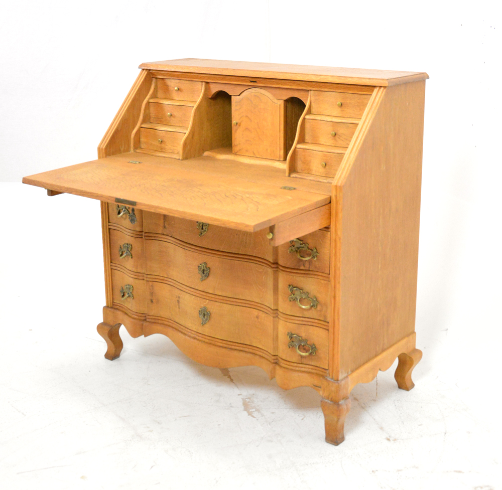 Antique Writing Bureau Oak Danish Homestore