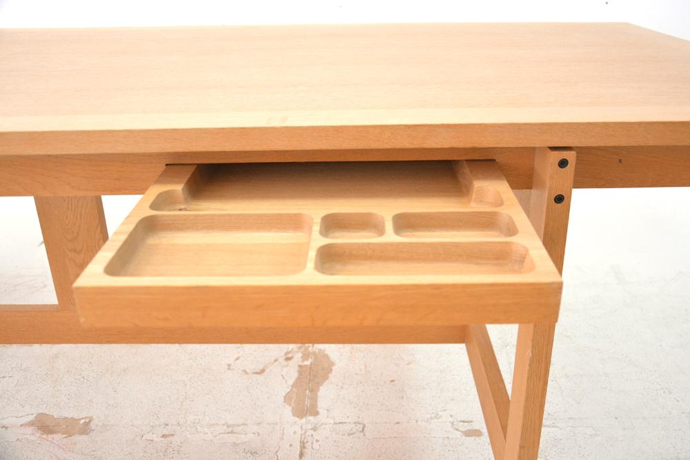 Large Oak Kitchen Table By Jensen Amp Valeur With Single