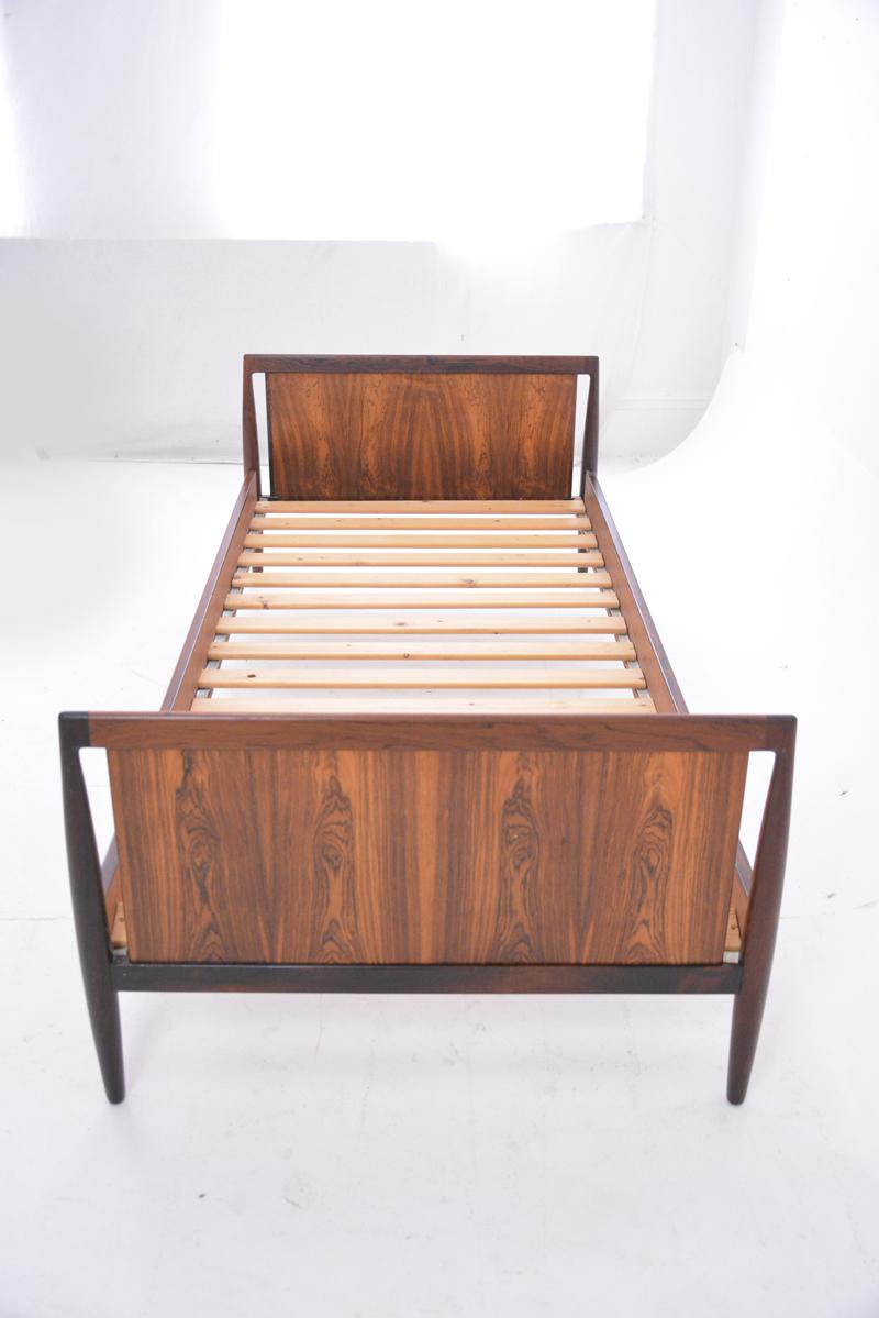 Vintage Single Bed Frame Brazilian Rosewood Danish