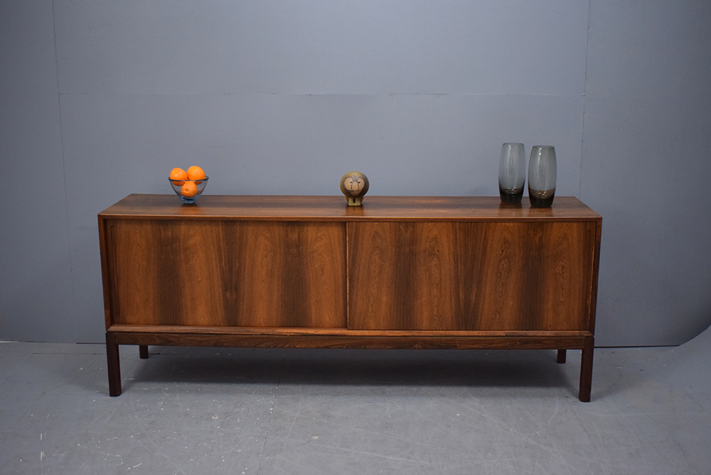Danish Design Credenza : Rosewood sideboard sliding doors danish homestore