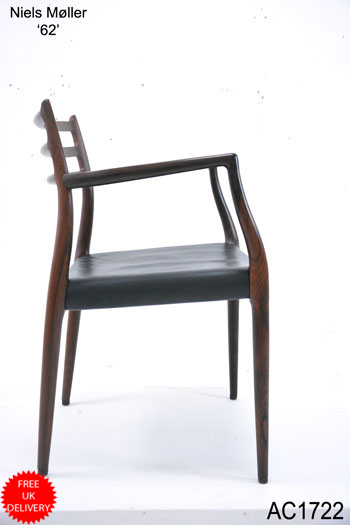 Model 62 armchair | Rosewood & leather