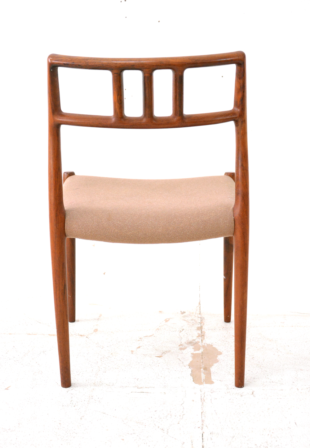 Oak Dining Chair Curved Back