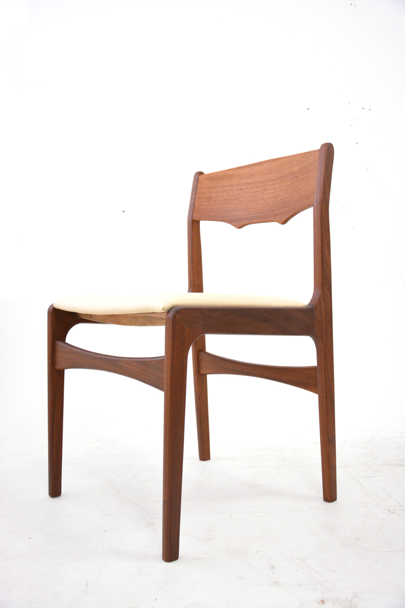 Teak Dining Chairs Re Upholstery Project Danish Homestore