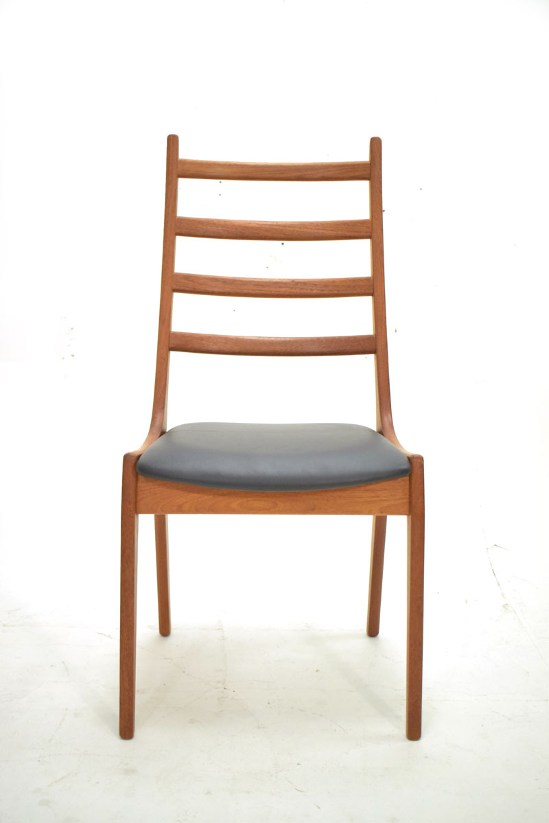 6 high back dining chairs | Teak frame | Korup stolefabrik