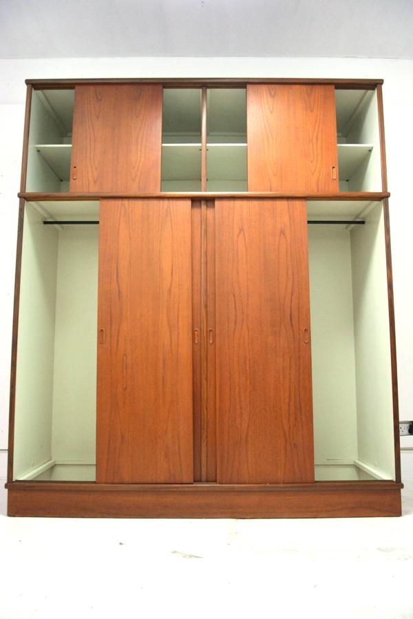 Danish wardrobe storage unit with sliding doors and gents dressing mirror.  sc 1 st  Danish homestore & Danish vintage teak wardrobe | Danish homestore