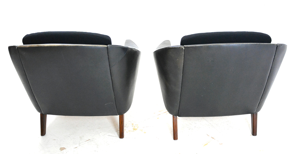 Vintage Black Leather Armchair