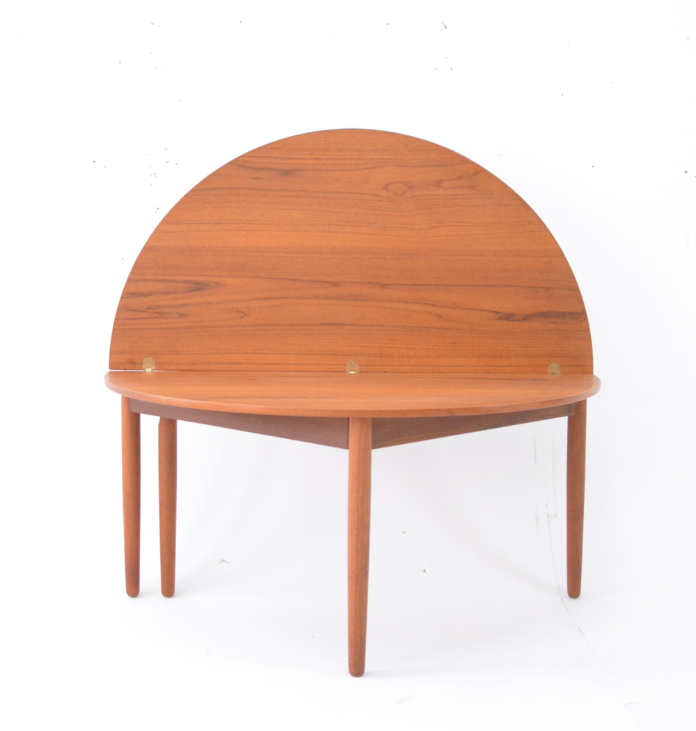 Poul Volther Teak Round Folding Lounge Table Danish Homestore