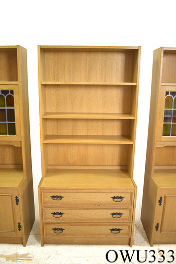 Oak wall unit with bookcase top