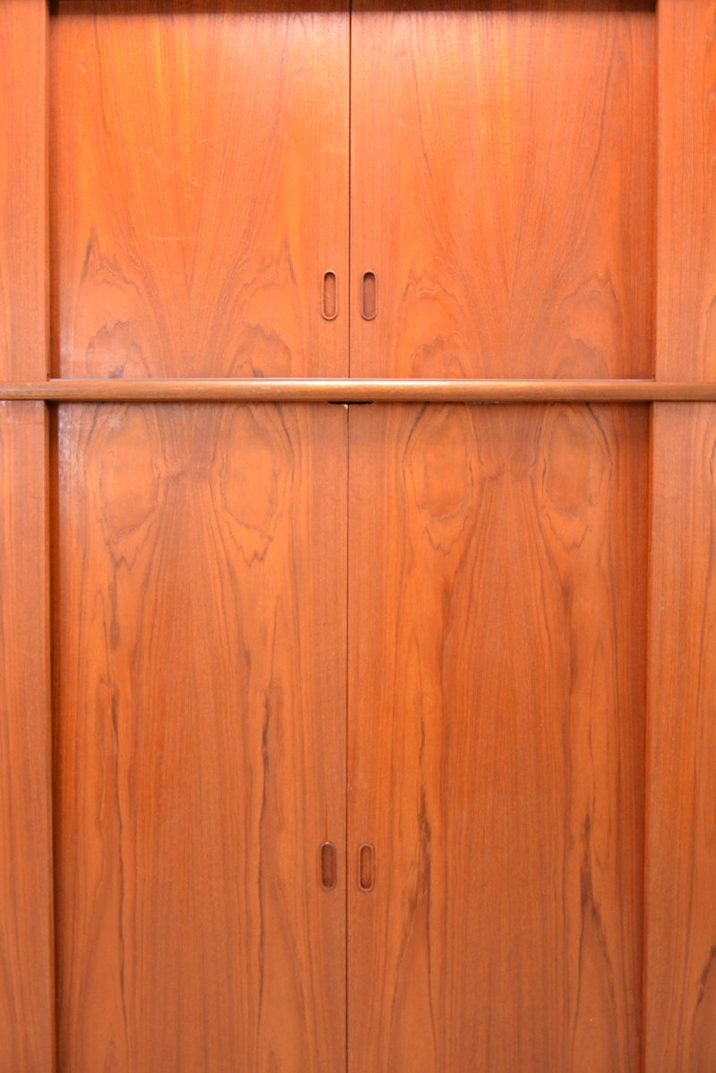 Sliding Door Wardrobe 1960s Teak Danish Homestore